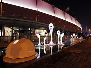 上海エキスポ日本館モニュメント(夜)